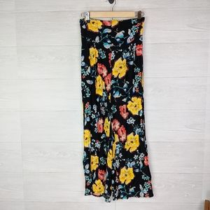 NWT Free People Floral Black Combo Pants